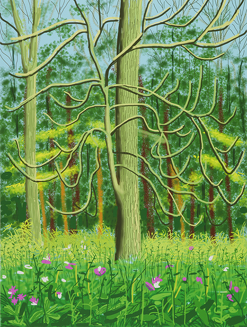 David Hockney, 'The Arrival of Spring in Woldgate, East Yorkshire in 2011 (twenty-eleven) – 4 May, 2011', 2011, Jonathan Novak Contemporary Art