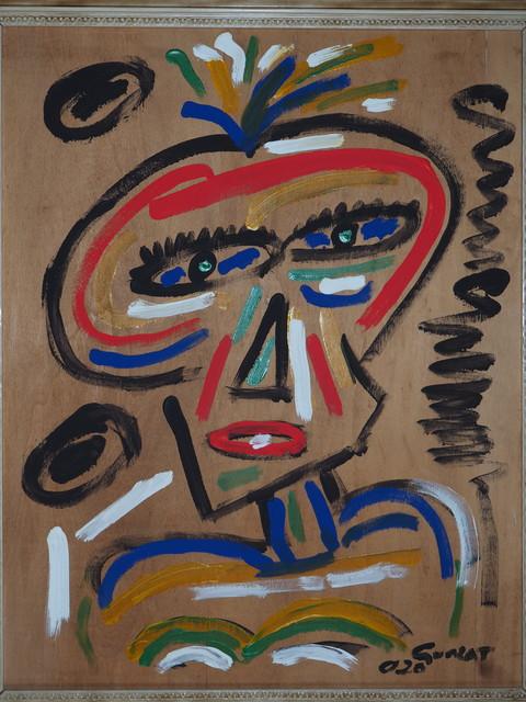 Maria Teresa Guala, 'Indian woman', 2020, Painting, Acrylic on board, Secret Art Ltd.