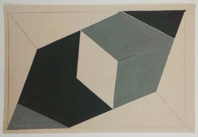 , '(Estudo) para Planos em Superfície Modulada,' ca. 1952, Alison Jacques Gallery