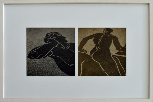 ", 'Greek mosaics ""diptique"" ,' 1995, The Art:Design Project"