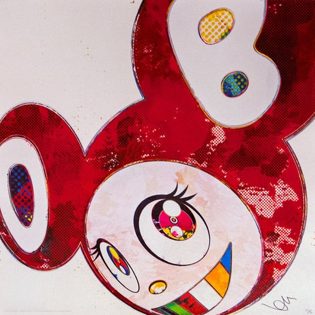 Takashi Murakami, 'And Then x6 Vermillion', 2013, Print, Offset lithograph, Cerbera Gallery