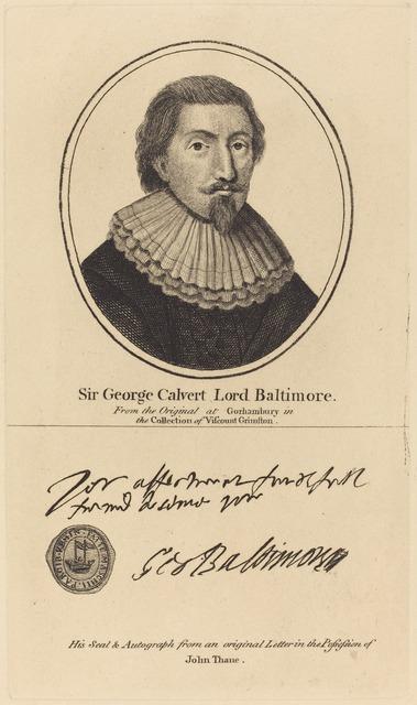John Thane, 'Sir George Calvert, Lord Baltimore', Print, Engraving, National Gallery of Art, Washington, D.C.