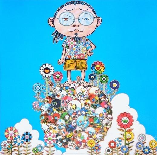 Takashi Murakami, 'Me Among The Supernatural', 2013, Print, 4c offset w/silver, Dope! Gallery