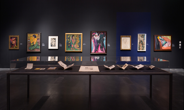 """, 'Installatio view, """"Expressionism in Germany and France: From Van Gogh to Kandinsky,"""" Los Angeles County Museum of Art,' , Los Angeles County Museum of Art"""