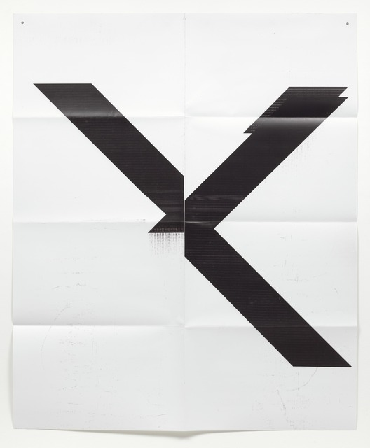 Wade Guyton, 'Untitled X poster', 2015, Kunzt Gallery