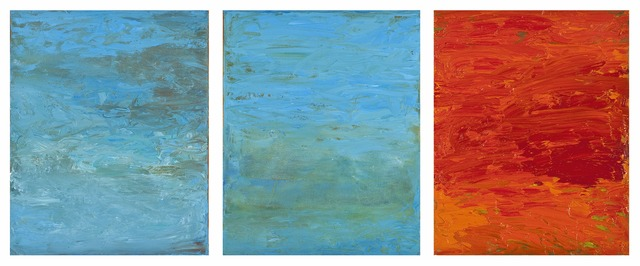 , 'Elements: Water, Fire-Tripych,' 2014-2015, Seager Gray Gallery
