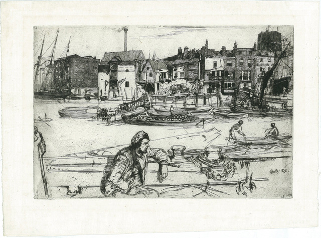 , 'Black Lion Wharf,' 1859, The Fine Art Society