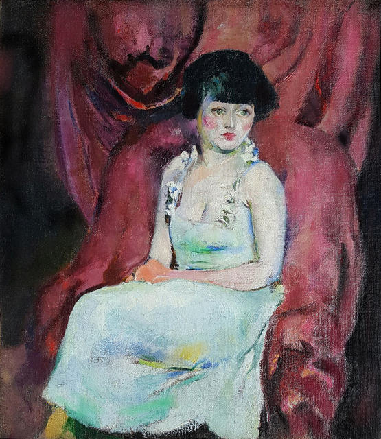 , 'Portrait of a Seated Woman,' ca. 1920, Robert Funk Fine Art