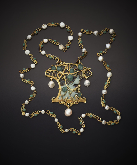 , 'Necklace - Gold, enamel and pearls,' ca. 1899, Wartski