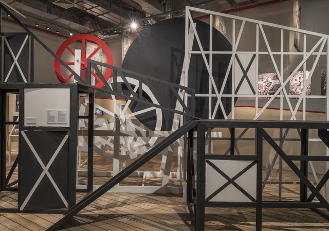 ", 'Reconstruction of the theatrical structure designed by Lubov Popova for ""The Magnanimous Cuckold, Moscow,"" 1922,' 1922 / 2014, Garage Museum of Contemporary Art"