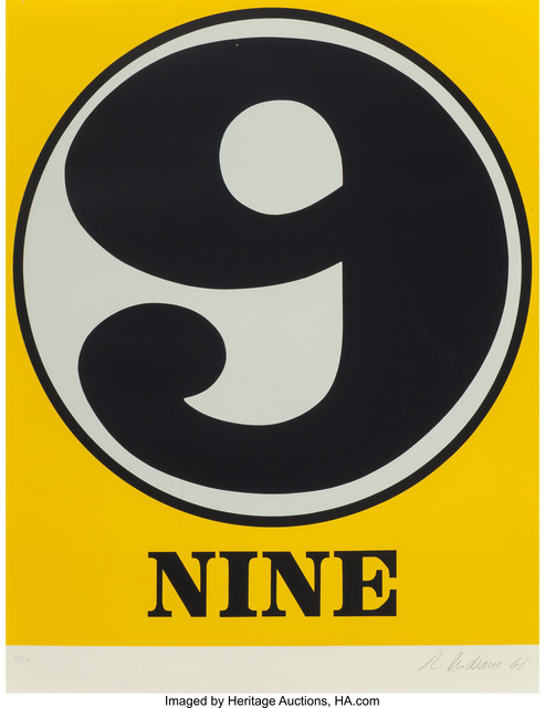 Robert Indiana, 'Nine', 1968, Print, Serigraph in colors, Heritage Auctions