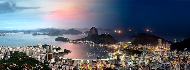 , 'Night & Day - Botafogo Cityscape, Rio de Janeiro,' 2016, Andrew Prokos Gallery