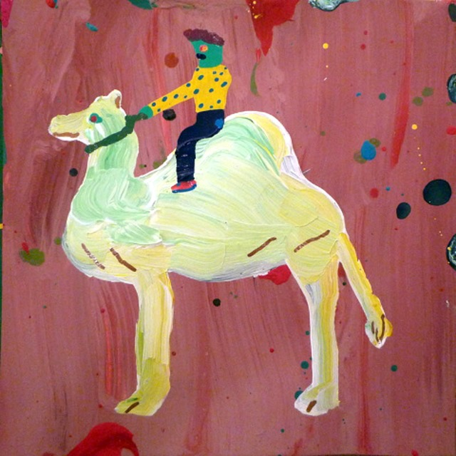 Misaki Kawai, 'Camel Rider 2', 2009, Drawing, Collage or other Work on Paper, Oil on paper, Japigozzi Collection