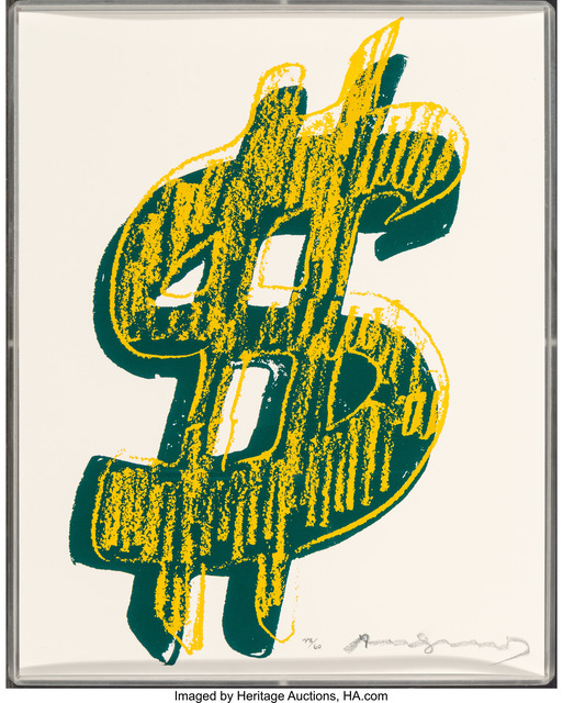 Andy Warhol, '$ (1)', 1982, Print, Unique screenprint in colors, Heritage Auctions