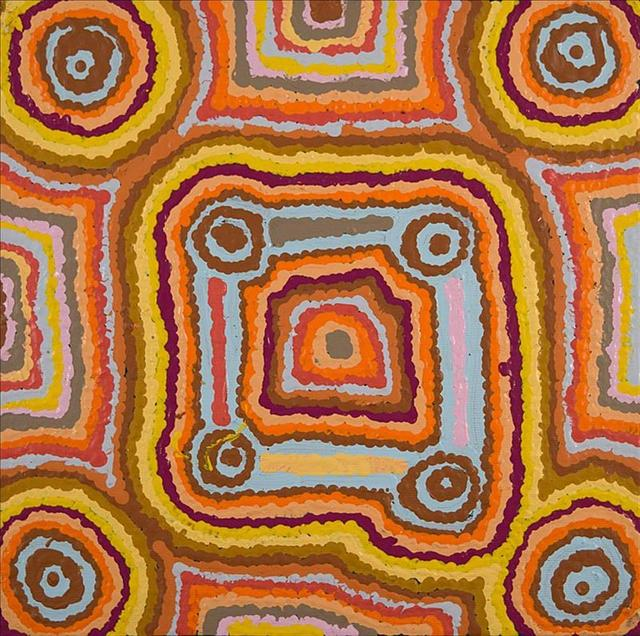 , 'Ngapa Jukurrpa (Water Dreaming) - Puyurru,' 2016, Rebecca Hossack Art Gallery