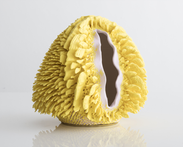 , 'Unique, hand-thrown Beyonclé with H2G14 Base and Matte Yellow Porcelain Accretion,' 2017, R & Company