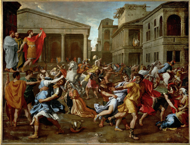 Nicolas Poussin, 'The Rape of the Sabine Women', 1637-1638, Painting, Oil on canvas, Erich Lessing Culture and Fine Arts Archive