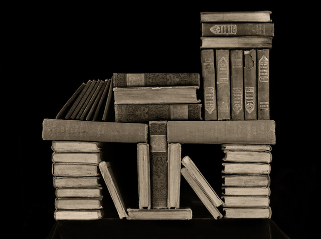 , 'Neat Pile of Books,' 1995, Panopticon Gallery