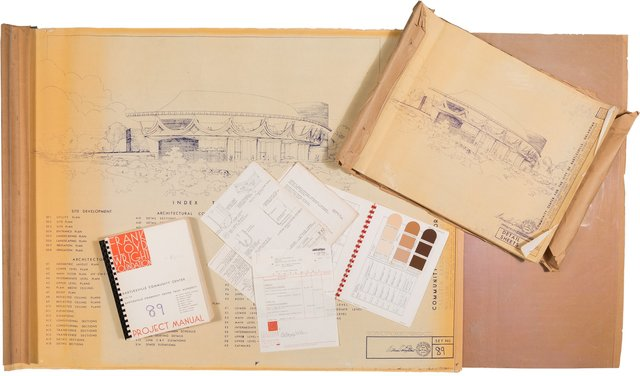Frank Lloyd Wright Foundation, Taliesin Associated Architects, 'Planning Documents for the Bartlesville Community Center', circa 1979-1980, Heritage Auctions