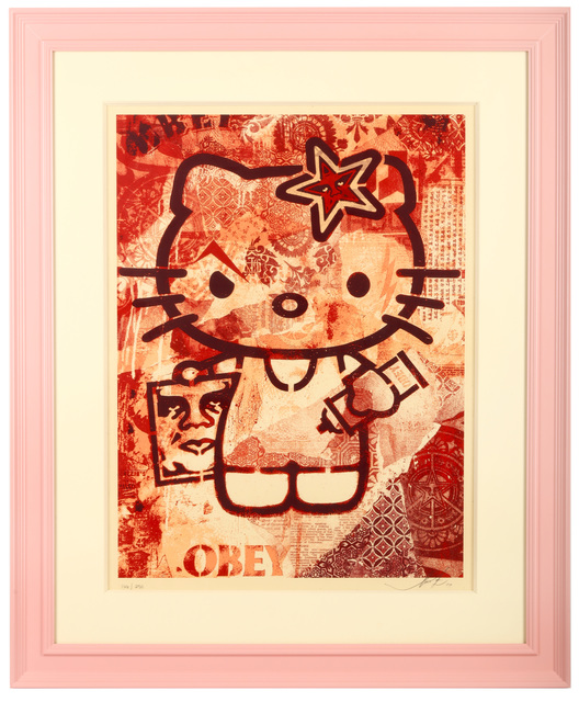 Shepard Fairey (OBEY), 'Hello Kitty (Pink)', 2010, Chiswick Auctions
