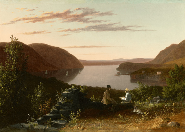 , 'Sketching the Hudson Highlands from Constitution Island,' ca. 1860, M.S. Rau Antiques