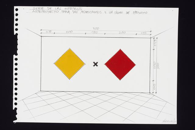 Horacio Zabala, 'Anteproyectos para dos monocromos y un signo de producto', 2011, Henrique Faria Fine Art