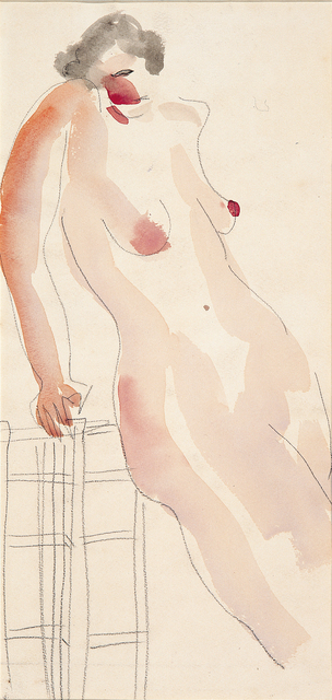 Sanyu, 'A Nude Lady lay on a chair', Lin & Lin Gallery
