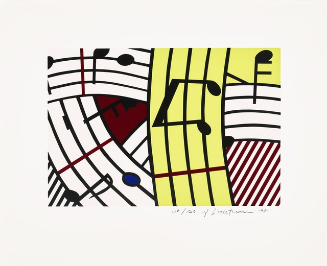 Roy Lichtenstein, 'Composition IV', 1995, Print, Screenprint in colors on BFK Rives wove paper., Fine Art Mia