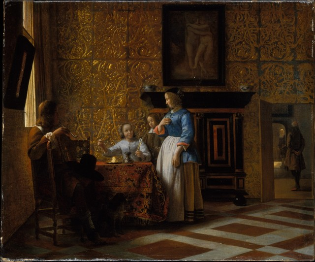 Pieter de Hooch, 'Leisure Time in an Elegant Setting', ca. 1663–1665, The Metropolitan Museum of Art