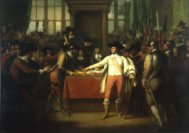 , 'Oliver Cromwell Dissolving the Long Parliament,' 1782, Montclair Art Museum