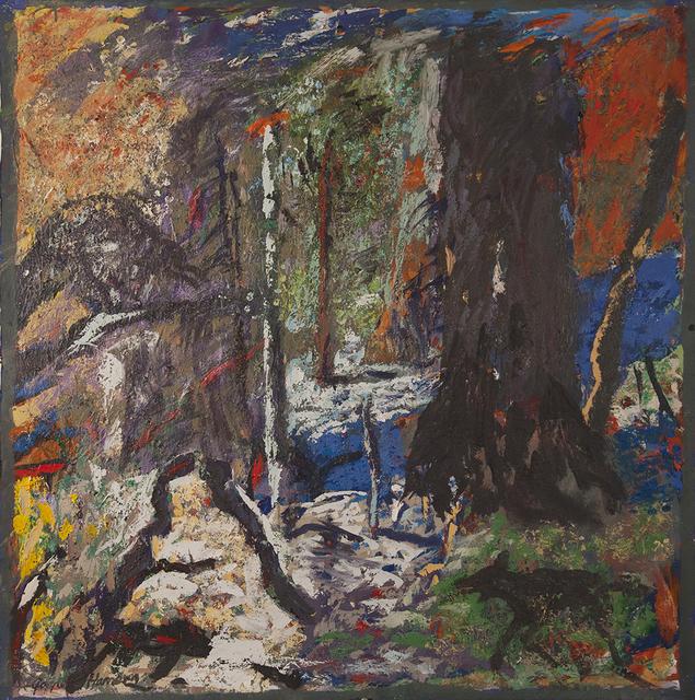 Gaylen Hansen, 'Black Dog Entering Woods', 2019, Linda Hodges Gallery