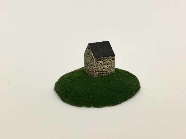 """, 'Housing Market Series 4:  """"I have a perfect house for you. It has nice size yard for your kids and dog."""" ,' 2018, Adah Rose Gallery"""