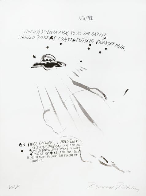 Raymond Pettibon, 'Untitled (U.F.O.)', 2018, Brooke Alexander, Inc.
