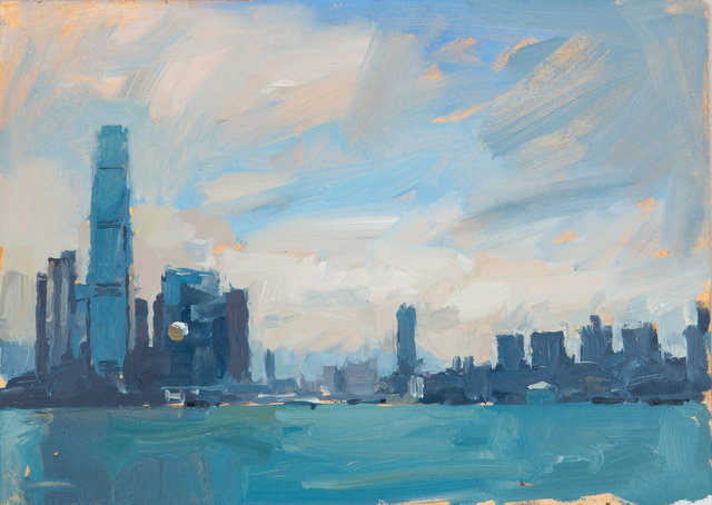 , 'Across the harbour, study, Hong Kong,' 2014, DELAHUNTY
