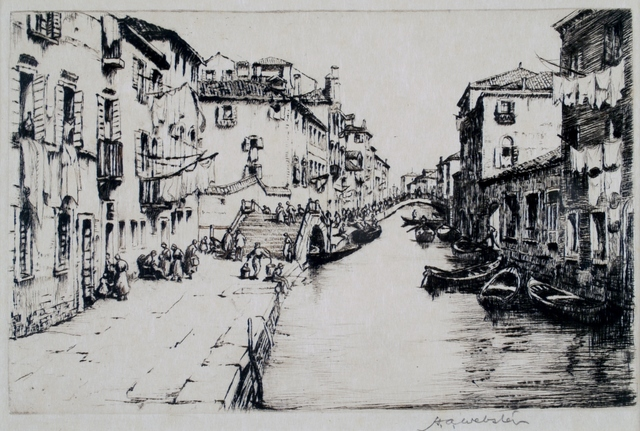 Herman Armour Webster, 'Canal, Venice', ca. 1930, Private Collection, NY