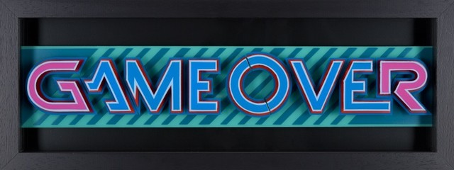 , 'Game Over- Pink & Blue,' 2016, Lawrence Alkin Gallery