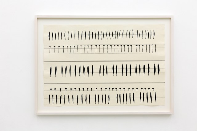 Carola Dertnig, 'Singing Nails X', 2019, Drawing, Collage or other Work on Paper, Collage and ink on handmade paper, Galerie Crone