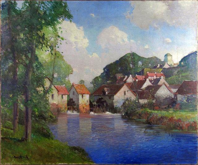 George Ames Aldrich, 'Summer Village on Blue Stream', ca. 1910, Janus Galleries