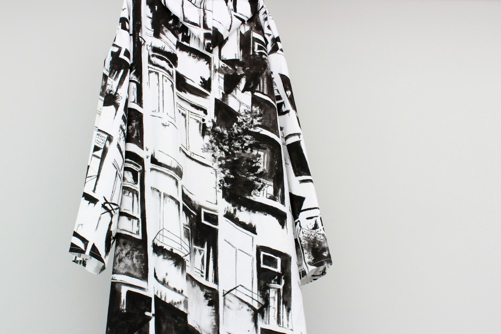 Shelter, 2017, Coat (Acrylic on linen), approx. 200 x 280 cm (Detail)