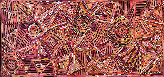 , 'Pauline Napangardi Gallagher - Mina Mina Jukurrpa #968-17ny ,' 2017, Flinders Lane Gallery