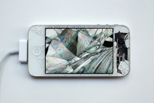 , 'Return of the Broken Screens (Apple iPhone 4s II),' 2016, Steve Turner