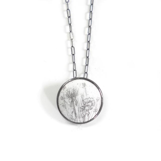 , 'Dried Flowers Small Round Pendant,' , Facèré Jewelry Art Gallery