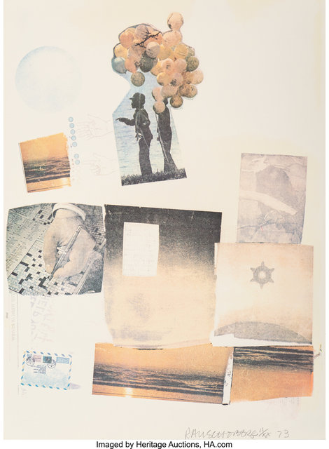 Robert Rauschenberg, 'Support', 1973, Print, Screenprint in colors on paper, Heritage Auctions