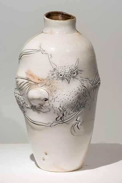 , 'Owl and Skull Vase,' 2013, Eutectic Gallery