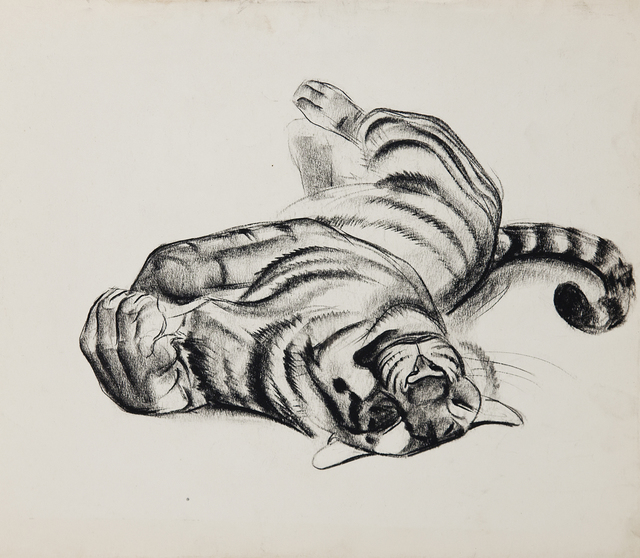 , 'Big Cats: Tiger Sunning,' 1940, Cade Tompkins Projects