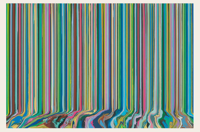 Ian Davenport, 'Poured Triptych Etching: Ambassadors (After Holbein)', 2017, Galerie Boisseree