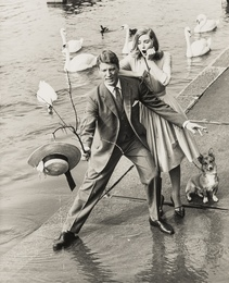 Out in the Rain, Three Aquascutum Advertising Portraits featuring Tania Mallet
