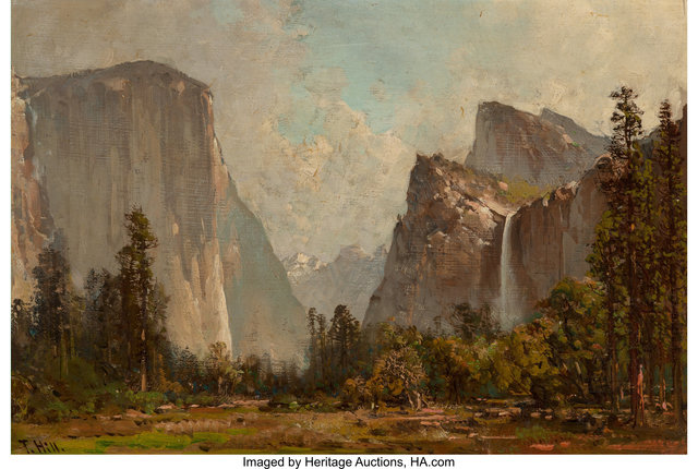 Thomas Hill, 'Gates of Yosemite and Bridal Veil Falls', Heritage Auctions