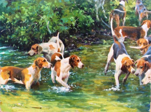 , 'Cooling Off,' , Dog & Horse Fine Art