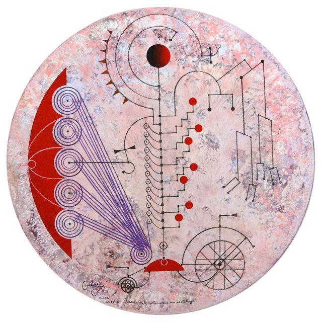 Carlos Estévez, 'Transeúnte activando un sortilegio [Transient Activating a Spell]', 2017, Painting, Oil and watercolor pencil on canvas, LaCa Projects